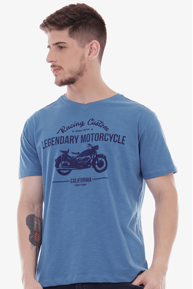 Camiseta-V-Flame-Motorcycle