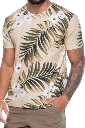 Camisa-Cotton-Masculina-Folhagem-Bege